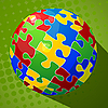 Vector clipart: Sphere puzzle background