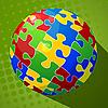Vektor Cliparts: Sphere Puzzle-Hintergrund