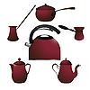 Vector clipart: Coffee pots
