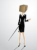 Vector clipart: Square head