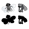Vector clipart: Ugly bugs