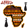 Africa traditional ornamental map