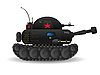 Vector clipart: Cartoon tank