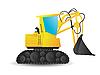 Vector clipart: Excavator