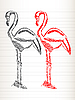 Vector clipart: Flamingo sketch