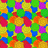 Vector clipart: A retro floral pattern