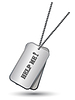 Vector clipart: Personalized army tags