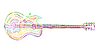Vector clipart: Electric guitar sketch