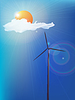 Modern windmill | 向量插图