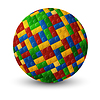 Vector clipart: Plastic pieces sphere