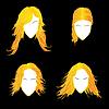 Vektor Cliparts: Blond Avatare