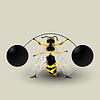 Vektor Cliparts: Abnehmen Biene