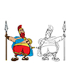 Векторный клипарт: Жир римской мультяшный