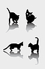 Vector clipart: Cats silhouettes