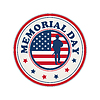 Vector clipart: Memorial Day stamp