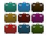 Vector clipart: Lugages, suitcase set