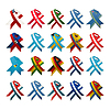 Vector clipart: Country flag ribbons