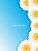 Vector clipart: Greeting floral card