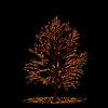 Vector clipart: Autumn tree card