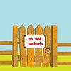 Vector clipart: Do no disturb