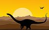 Vektor Cliparts: Hintergrund mit Dinosaurieren
