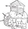 Vector clipart: armored elephant