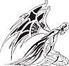 Vector clipart: fantasy man with wings