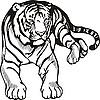 Vector clipart: lying tiger