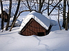 House in snow | Stock Foto