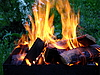 Fired logs | Stock Foto