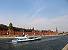 모스크바 강에서 배 | Stock Foto