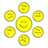 Векторный клипарт: Улыбки желтый