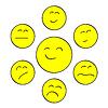 Векторный клипарт: Желтая улыбка чате