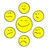 Vector clipart: Yellow forum smiles