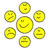 Векторный клипарт: Желтая улыбка