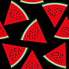 Vector clipart: watermelon seamless