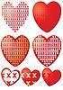 Vector clipart: xoxo hearts