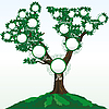 Vector clipart: genealogic tree