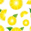 Vector clipart: lemon seamless