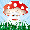 Vector clipart: mushroom monster