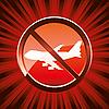 Vector clipart: no flights