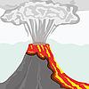 Vector clipart: volcano