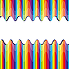 Vector clipart: broken rainbow stripes