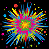 Vector clipart: color explosion