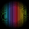 spiral with rainbow stripes