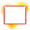 Abstract rectangular frame