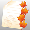 Autumn maple leaves and clean paper list | Stock Vector Graphics