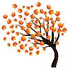 Jesień klon na wiatr | Stock Vector Graphics