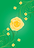 green card with golden rose