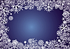 Background with blue snowflakes | Stock Vector Graphics